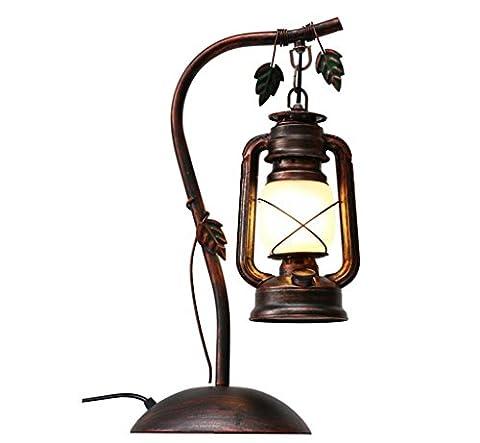Jingzou Retro, bar, table lamp, bedroom, living room, study, antique,