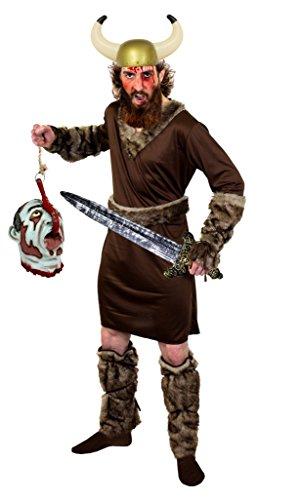 Barbaren Kostüm König (HALLOWEEN WIKINGER KRIEGER KOSTÜM DER RAGNAR KLASSE= MIT ABGEHACKTEM KOPF = DER KOPF HÄNGT AN EINEM SEIL UND IST AUS LATEX = VON ILOVEFANCYDRESS®= DAS KOSTÜM IST ERHALTBAR IN 5)