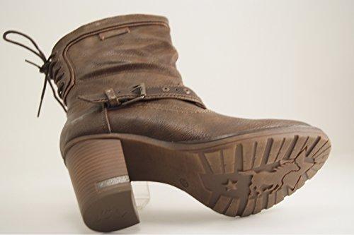 Mustang 1233-504 Schuhe Damen Stiefel Stiefeletten Ankle Boots Braun