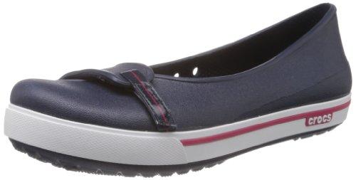 crocs - Crocband 2.5 Flat, Ballerine da Donna, Blu (Blau (Navy/Raspberry)), 34-35