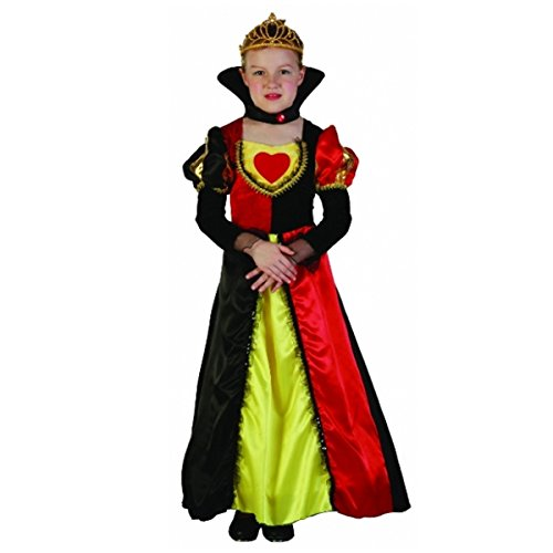 Of Hearts Plus Kostüm Queen - Wicked Fun Girls Plus Size Queen of The High Seas Queen of Hearts Costume (Small (4-6 Years))