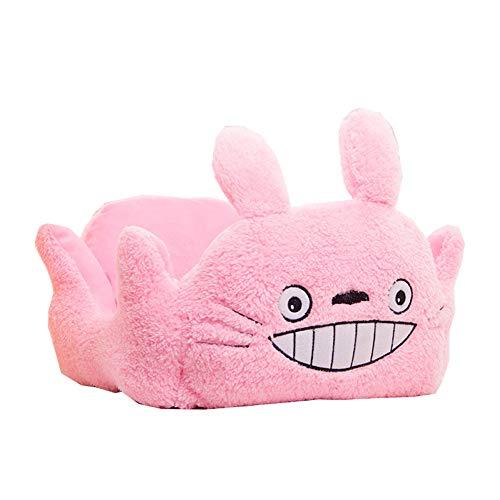 XGPT Niedliche Schildkröte Gesicht Warm Soft Fleece Puppy Pets Dog Cat Bed House Basket Nest Mat,Pink -