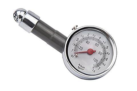 Jauge de Pression des Pneus Contrôleur de Pression de Pneu Indicateur de Pression de Pneu Manomètre Mécanique pour Pneus Mesure Précise Matériaux en Métal(4)