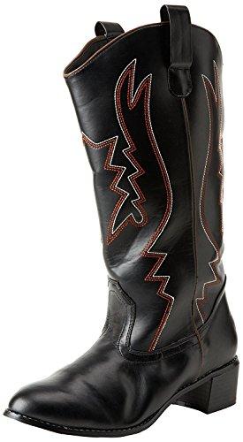 Higher-Heels Funtasma Cowboy-Stiefel Cowboy-100 mattschwarz Gr. 46 bis 47