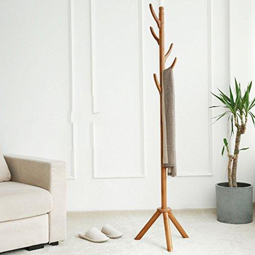 LYM Stehender Huthänger Coats Hut-Zahnstange Bambusstehender Zahnstangen-, Hall-Baum mit 5Hooks Ausstellungsstand Einfacher Zusammenbau der Mantel-Regale ( Farbe : A , größe : 173*40CM )