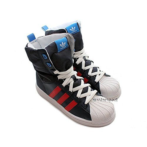 Adidas Superstar Boot K (G62404) White, Blue and Black
