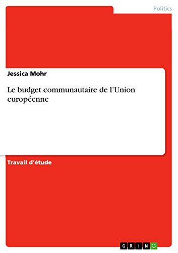 Livre Le budget communautaire de l'Union européenne pdf