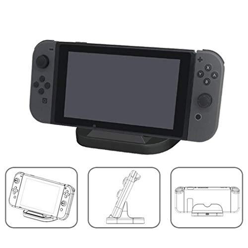 wyxhkj Einzigartige tragbare Ladestation für Ladegeräte vom Typ C mit Dock für Nintendo Switch (Schwarz)