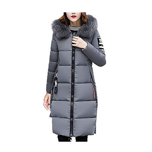Donna down jacket giaccone parka cappotto con cappuccio da donna,cappotti invernali addensare aggiungi velluto casual eleganti taglie forti giacche felpe trench giacca(grigio,m)