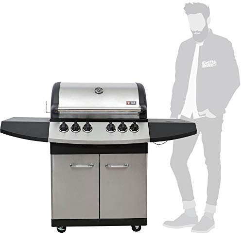 Mayer Barbecue ZUNDA Gasgrill MGG-341 Pro mit Backburner