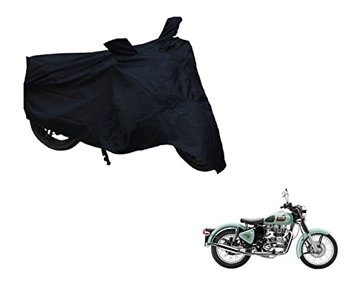 Auto Hub 2x2 Black Matte Bike Cover For Royal Enfield Classic 350/500  available at amazon for Rs.249