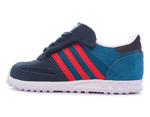 Adidas LA Trainer CF I unisex bambino, pelle scamosciata, sneaker bassa Petink/Red/Ftwwhite