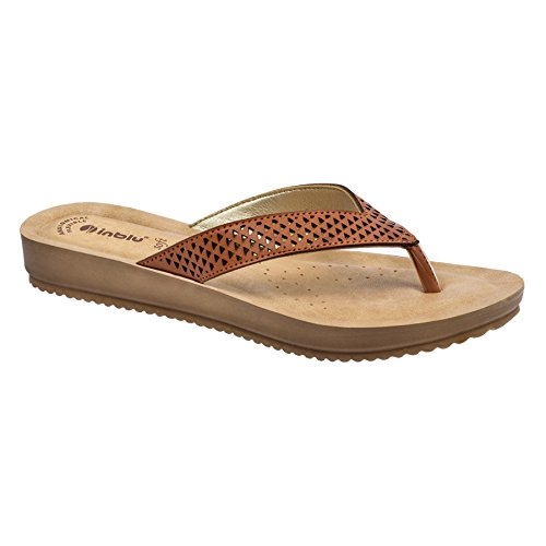 Inblu low heel tan colour ladies Chappal for formal and casual use | ladies sandal for formal use | footwear for girls | stylish ladies slipper – size 5 to 9 inch – PU sole chapal –Both indoor and outdoor use