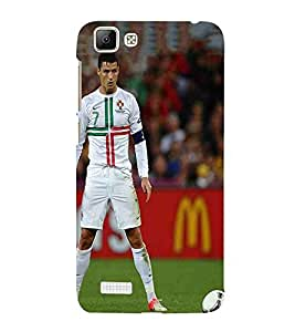 For Vivo V1 sports man, man, sports, football, many man Designer Printed High Quality Smooth Matte Protective Mobile Case Back Pouch Cover by APEX