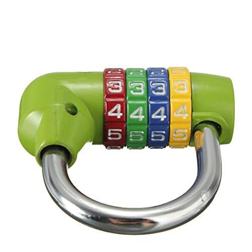 MYAMIA 4-Stellige Umsetzbare Kombination Vorhängeschloss Reisegepäck Tasche Tagebuch Koffer-Code Security Lock-Grün