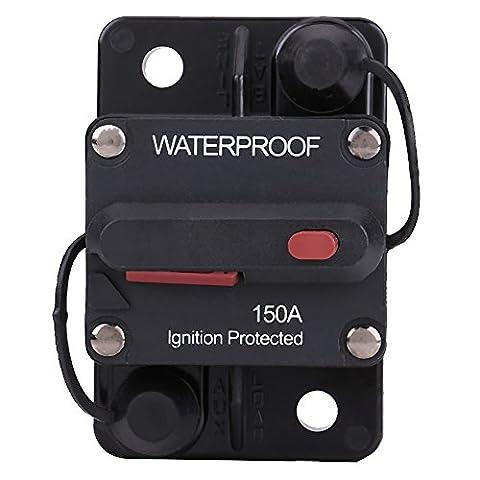 Qiilu Disjoncteur étanche avec bouton de réarmement manuel Inverseur de fusible pour voiture RV Marine Boat(150A )