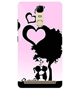 Chiraiyaa Designer Printed Premium Back Cover Case for Lenovo K5 Note (heart couple boy girl friend valentine miss kiss tree nature) (Multicolor)