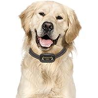 El Mejor Collar Anti-Ladridos, Collar Frena-Ladridos. Utiliza sonidos y vibraciones audibles. SIN CHOQUES ELECTRICOS. Chip Avanzado con 7 Niveles Ajustables de Sensibilidad. Correa de cuello de nylon flexible y ajustable para perros