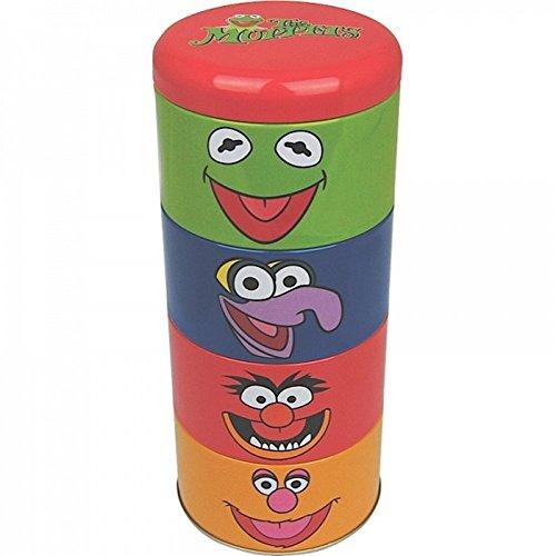 Kostüm Fozzie Bär - The Muppet Show - Blechdosen 4er Set (Kermit der Frosch + Animal + Gonzo + Fozzie Bär) toll und stabil verpackt in einer Geschenkbox!