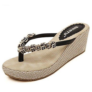 Donne'sscarpe tacco a cuneo Flip Flop Sandals Casual pi¨´ colori disponibili US8 / EU39 / UK6 / CN39