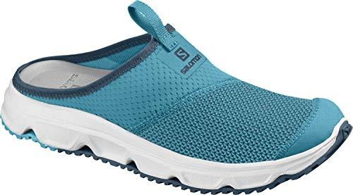 Salomon Damen RX Slide 4.0 W, Erholungsschuhe, blau (caneel bay / white / mallard blue), Größe 37 1/3