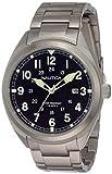 Nautica Herren Analog Quarz Uhr mit Edelstahl Armband NAPBTP004