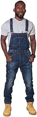Peto vaquero hombre - Slim Fit - Azul Oscuro overol de mezclilla Bib Down JAYBLEEDDARKBLUE