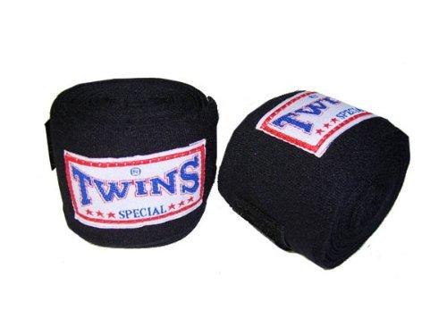 Twins Special Boxen Hand-Bandagen : schwarz (Muay Twins Special Thai)