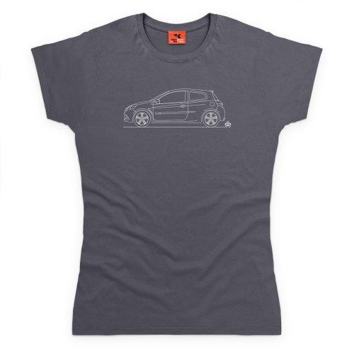 PistonHeads Clio 200 Cup T-Shirt, Damen Anthrazit