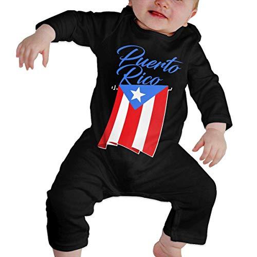 Puerto Rico Flag1 Toddler Baby Long Sleeve Bodysuit Baby Rompers 12M