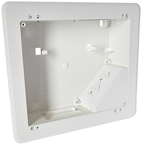 ARLINGTON INDUSTRIES TVB810 2477659 4-Gang Recessed Tv Box for Power and Low Voltage, 8 x 10, White by Arlington Industries Low-voltage-tv