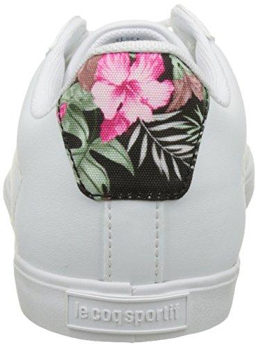 Le Coq Sportif Agate Lo Tropical Paradise, Basses Femme Blanc (Optical White/Lichen)
