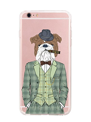iPhone 6/6 Plus Hülle,EinsAcc Silikon Landschaft Weich Hülle Case Backcover für iPhone 6/6 Plus (für iPhone 6 Plus, katze) hund