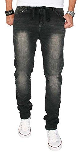 Basic Jeans pantaloni da Jogging dinotech uomo pantaloni Chino Slim Fit Nero  nero
