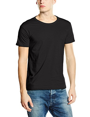 Stedman Apparel Herren T-Shirt Ben (Crew Neck)/st9000 Premium Schwarz - Black Opal