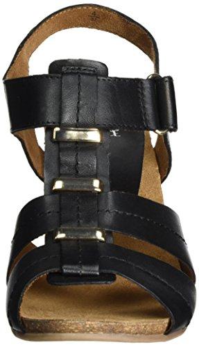 Caprice 28309, Sandales Bout Ouvert Femme Noir (Black Nappa)