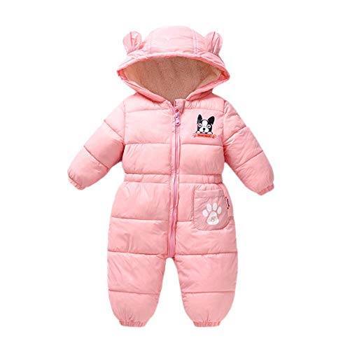 Baby Strampler Mantel Jacke Kapuzenpullover - modisch niedlich, bequem, warmer Strampler Jumpsuit Outwear Mantel Feder Baumwolle Daunenjacke Jungen Mädchen Winter Outwear