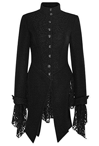 Damen Mantel Gehrock mit Spitze von Punk Rave Lolita Gothic BURLESQUE (XXL) (Burlesque Kostüm Designer)