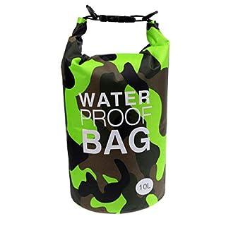 AiO-S - OK Drybag 10L Tasche 10 Liter wasserdicht Packsack Camouflage grün Water Proof Softcase