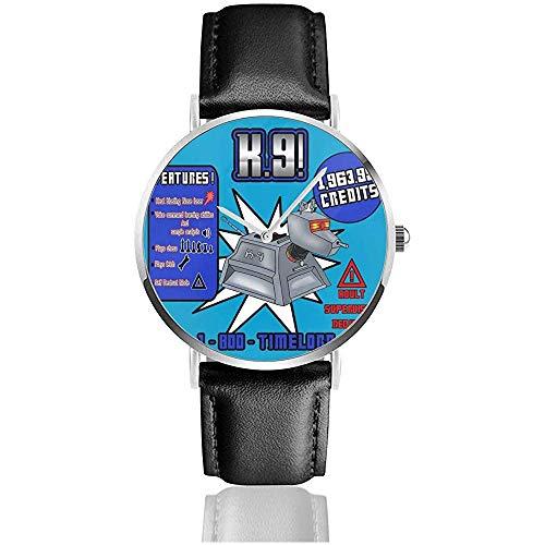 Unisex Business Casual Doctor Who K9 Werbung Uhren Quarz Leder Uhr einkaufen -