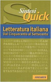 Letteratura italiana. Dal Cinquecento al Settecento