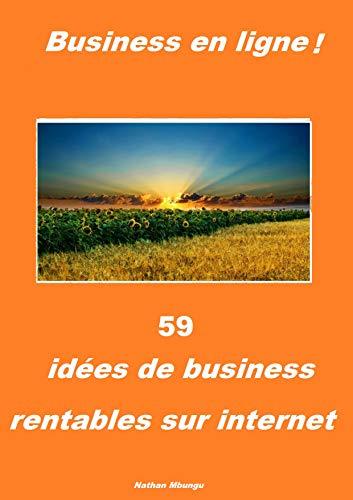 Couverture du livre 59 idées de business rentables sur internet