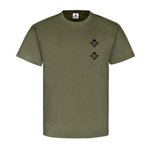 Oberleutnant Dienstgrad Bundeswehr BW Abzeichen Schulterklappe Aufschiebeschlaufe Unteroffizier Offizier Mannschafter Truppendienst- T Shirt Herren oliv #15919