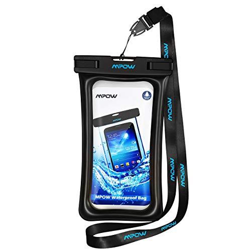 Wasserdichte Handytasche,Mpow Wasserdichte Hülle, Schwimmende wasserdichte handyhülle für IPhone 7/7 Plus/6/6s/5/5s/se, Google Pixel, LG G6, Huawei P9/P9 Plus,GalaxyS8 usw bis zu 5.8 Zoll. - Wasserdicht Schwimmt