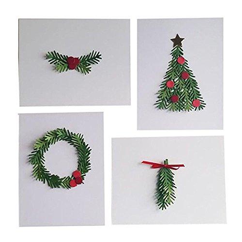 WOZOW Fustelle per Scrapbooking Corona di alberi di Natale in metallo Metallo Taglio Muore Stencil Template Stampo Goffratura #0415A Regali artigianali di carta Accessori per Big Shot e Altre Macchina