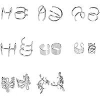 Earcuffs Polsino dell'orecchio Orecchio Clip 8Paia Acciaio Titanio, Orecchini di Cartilagine Non Penetranti, Polsino…