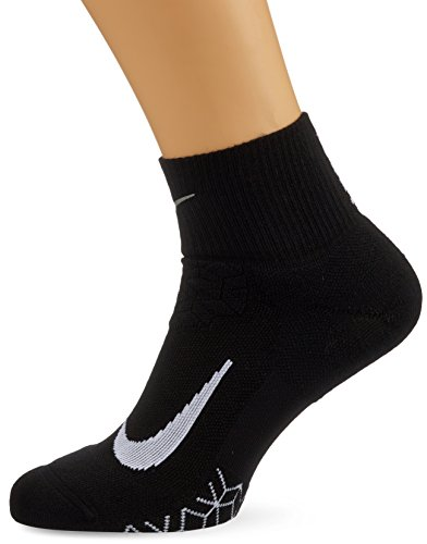 Nike Herren Elite Cushion Quarter-Running Socken, Black/White, 8-9.5 US/41-43 EU (Nike-elite)