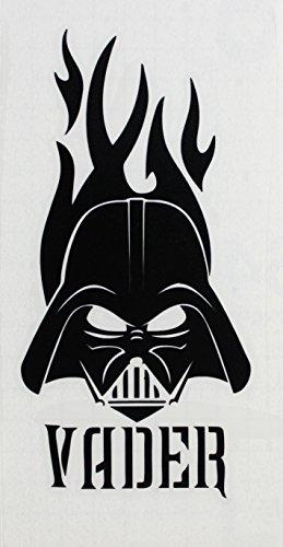 "Preisvergleich Produktbild STAR WARS Vader Hot Black schwarz Rub-On Sticker AufkleberDisney Officially Licensed Movie & TV Artwork, 6.5"" x 3.75"" Long Lasting STICKER"