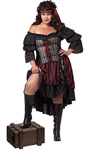 CALIFORNIA Pirate Wench Plus (Pirate Wench Kostüm Plus)