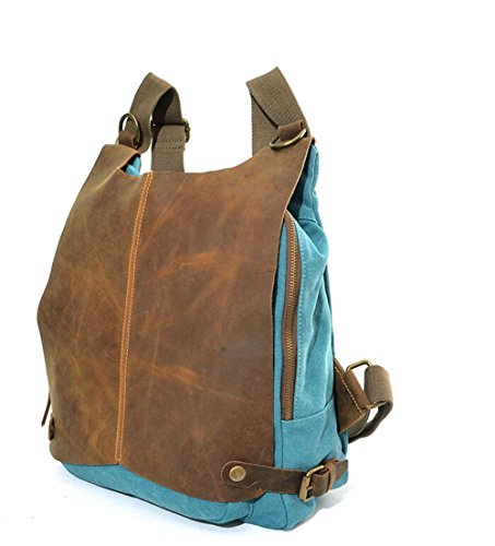 fanselatm-canvas-pu-leather-decoration-backpack-korean-bag-pack-luggage-for-men-and-women-blue